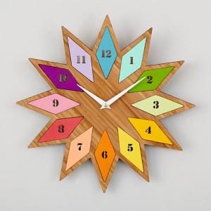 chromatic-bamboo-wall-clock